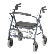 Nova Medical Products Rolling Walker - front wire basket