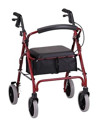Nova Medical Products Zoom 22 Rolling Walker, Red