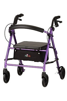 Nova Medical Products Petite Rolling Walker, Purple