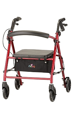 Nova Medical Products Petite Rolling Walker, Red