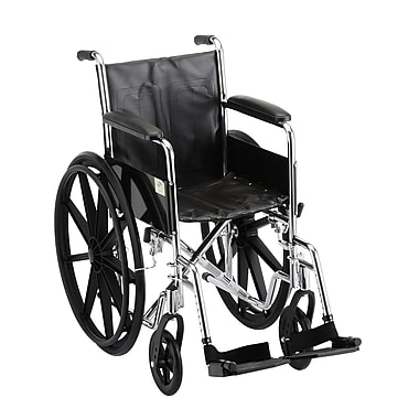 Nova Medical Products Steel Wheelchair Fixed Arms and Footrests 16