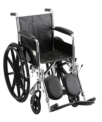 Nova Medical Products Steel Wheelchair Fixed Arms and Elevating Leg Rests 16
