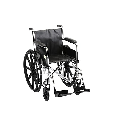 Nova Medical Products Steel Wheelchair Fixed Arms and Footrests 18