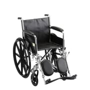 """Nova Medical Products Steel Wheelchair Fixed Arms and Elevating Leg Rests 18"""""""