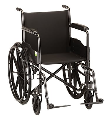 Nova Medical Products Aluminum Wheelchair with Fixe Arms and Swing Away Footrests 20