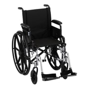 Nova Medical Products Aluminum Wheelchair with Desk Arm 16""
