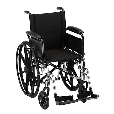 Nova Medical Products Lightweight Wheelchair with Full Arms and Footrests 16