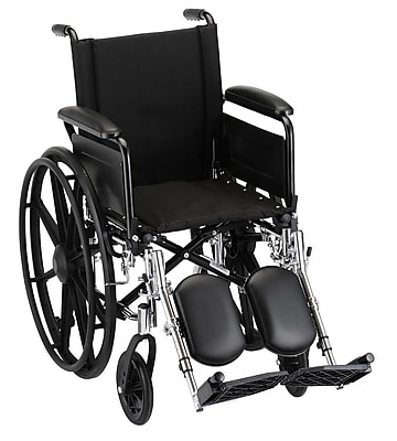 Nova Medical Products Wheelchair with Full Arms and Elevating Legrests 16