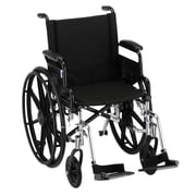 Nova Medical Products Lightweight Wheelchair with Desk Arms and Footrests 18""