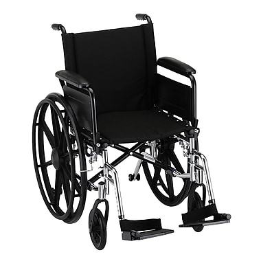 Nova Medical Products Lightweight Wheelchair with Full Arms and Footrests 18