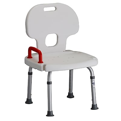 Nova Medical Products Bath Bench with Back & Red Safety Handle