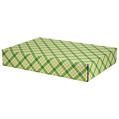 GPP Gift Shipping Box, Holiday Line, Green Plaid