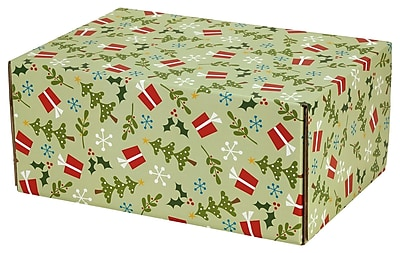 5wx12 2h Gpp Gift Shipping Box Holiday Line Gifts And Trees 48 Pack