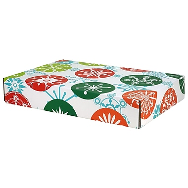 GPP Gift Shipping Box, Holiday Line, Jumbo Snowflakes