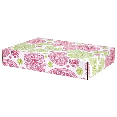 GPP Gift Shipping Box, Lisa Line, Paisley Pink/Green