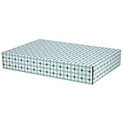 GPP Gift Shipping Box, Lisa Line, Teal Grid