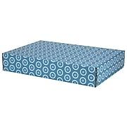 GPP Gift Shipping Box, Lisa Line, Teal Circles
