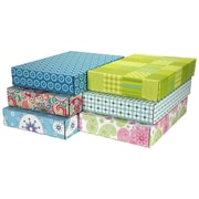"""06.2""""(L)X 3.7""""(W)X9.5""""(H) GPP Gift Shipping Box, Lisa Line, Assorted Styles, 48/Pack"""