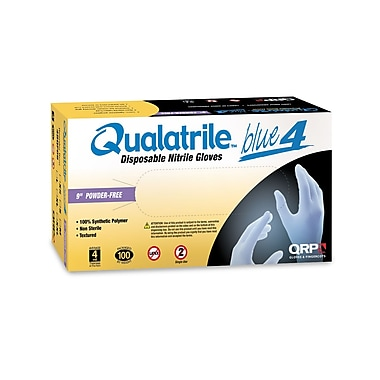 QRP 4ml Disposable Nitrile Gloves, 9 Inch, Large
