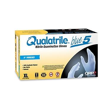 QRP – Gants en nitrile bleu Qualatrile non poudrés, 12 po