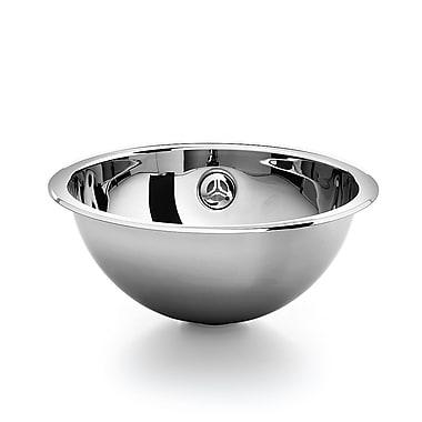 WS Bath Collections Acquaio Metal Circular Vessel Bathroom Sink w/ Overflow
