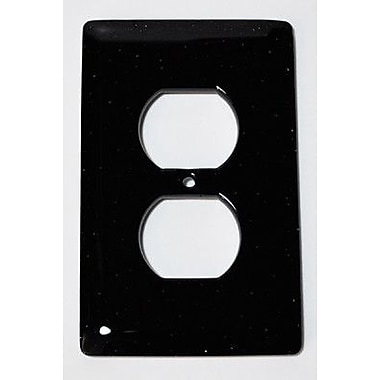 Hot Knobs Solid 1 Gang Receptical Wall Plate; Black