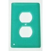 Hot Knobs Solid 1 Gang Receptical Wall Plate; Light Aqua Blue