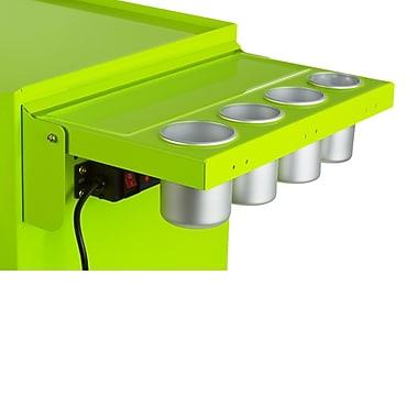 Viper Tool Storage Folding Salon Cart Power Shelf; Lime