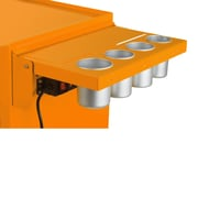 Viper Tool Storage Folding Salon Cart Power Shelf; Orange