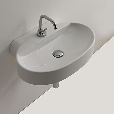 WS Bath Collections Cento Ceramic 24'' Wall Mount Bathroom Sink