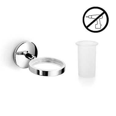 WS Bath Collections Noanta Self-Adhesive Tumbler and Tumbler Holder