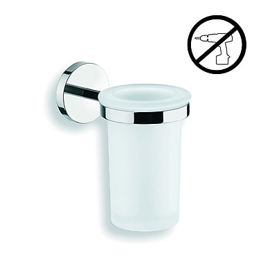 WS Bath Collections Duemila Self-Adhesive Tumbler and Tumbler Holder