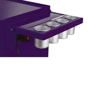 Viper Tool Storage Folding Salon Cart Power Shelf; Purple