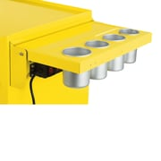 Viper Tool Storage Folding Salon Cart Power Shelf; Yellow