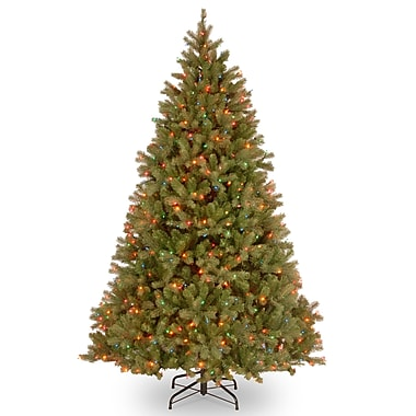 National Tree Co. Bayberry Spruce 7' Green Artificial Christmas Tree w/ 700 Multi Lights and Stand