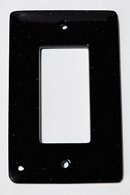 Hot Knobs Solid 1 Gang Decora Wall Plate; Black