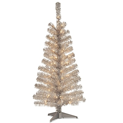 national tree co tinsel trees 4 silver - Teal Christmas Tree
