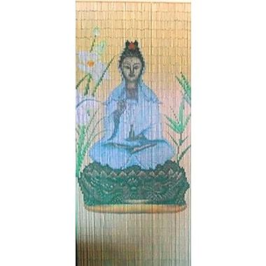 Bamboo54 Quan Yin Graphic Print & Text Semi-Sheer Single Curtain Panel
