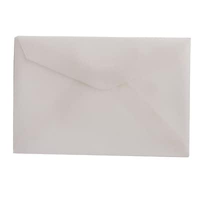 JAM Paper® 3drug Mini Small Envelopes, 2 5/16 x 3 5/8, Strathmore Bright White Wove, 100/pack (900967818A)