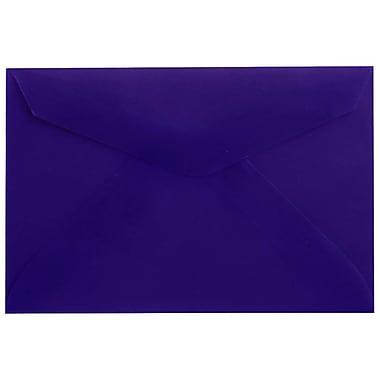 JAM Paper® 3drug Mini Small Envelopes, 2 5/16 x 3.63, Purple Translucent Vellum, 100/Pack (1591588A)