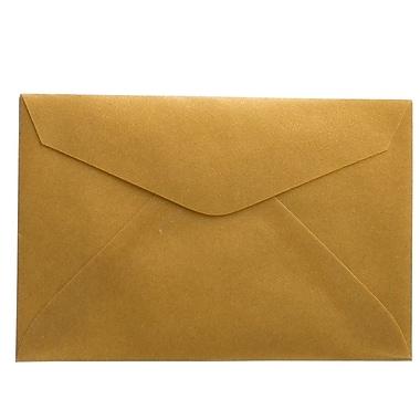 JAM Paper® 3drug Mini Small Envelopes, 2 5/16 x 3.63, Gold Translucent Vellum, 100/Pack (1591585A)