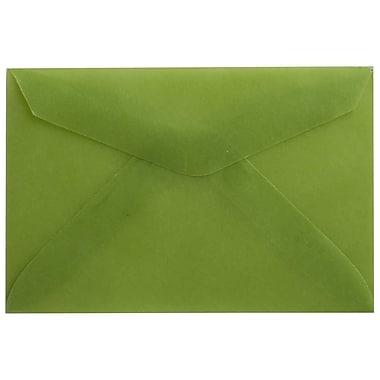 JAM PaperMD – Enveloppes, vert feuille translucide, 3drug, 2,31 x 3,62 po, 100/paquet
