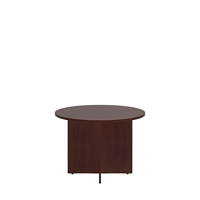 Bush Business 42'' Round Conference Table, Harvest Cherry, Installed (99TB42RCSFA)