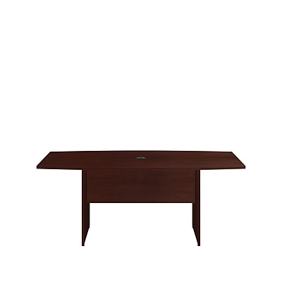 Bush Business 72'' Boat Conference Table, Harvest Cherry, Installed (99TB7236CSFA)