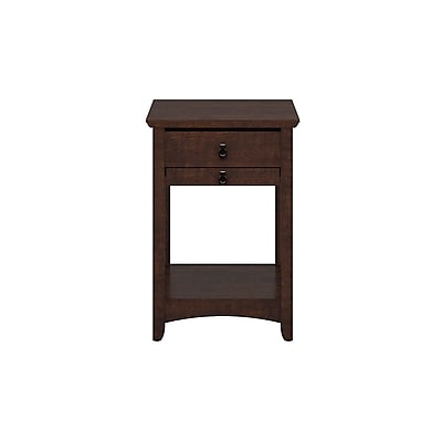 Bush Furniture Buena Vista Laptop End Table, Madison Cherry (MY13875-03)