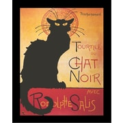 """Diamond Decor """"Tournee Du Chat Noir Black Cat"""" Framed Poster"""
