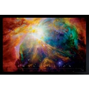 "Diamond Decor ""Imagination (Nebula) Portrait Poster"" Framed Poster"