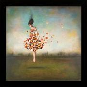 """Diamond Decor """"Boundlessness in Bloom"""" Framed Art Print Poster"""