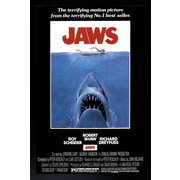 "Diamond Decor ""Jaws Movie Poster "" Framed Print"