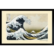 "Diamond Decor ""Pyramid Great Wave of Kanagawa Poster Print"" Framed Poster"